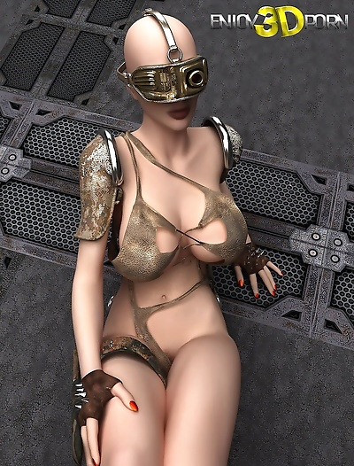 Dystopian babe naked with..