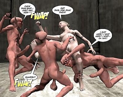 Satanic bizarre orgy 3d..
